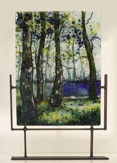 Sunlight Through the Trees, kilnformed glass by Alice Benvie Gebhart
