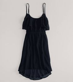 American Eagle Ruffled Chiffon Dress in either Pink, Black, or Chalk with Brown Hearts.