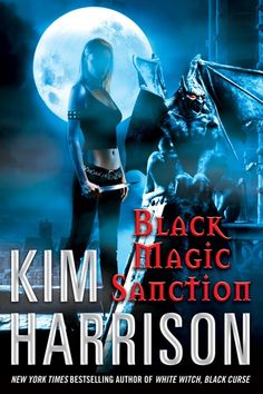 Kim Harrison's Black Magic Sanction. Original hard cover publication February 23, 2010. We had a quick change right before publication to haze her face.