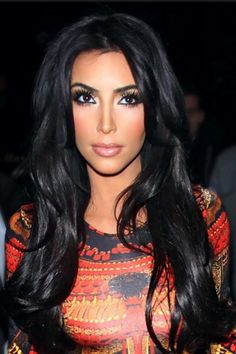 Kim Kardashian: so in love with her hair and make up! Always looking flawless. ! So jealous ..