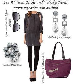 Miche Debbie shell for Demi bags.paired with our Valeska bedrock glam earrings and ring