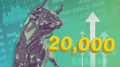 Dow soars past earlier limits in the stock market up almost two thousand points since trump has been elected. hitting 20,000 was a big milestone for dow.