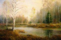 spring landscape (landscape painting)