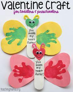 You Make My Heart Flutter Valentine Craft