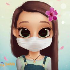 Girl Cartoon Characters, Cartoon Girl Images, Cute Cartoon Pictures, Cute Cartoon Girl, Cute Love Cartoons, Cartoon Art Styles, Kawaii Girl Drawings, Cute Little Drawings, Cute Girl Drawing