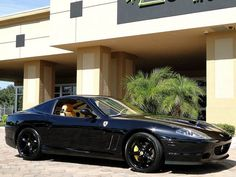 """#12. Ferrari 575 Maranello (of indeterminate vintage)... color is right, though i don't care for the so-called """"murdered out"""" look - further proof that money doesn't buy good taste."""