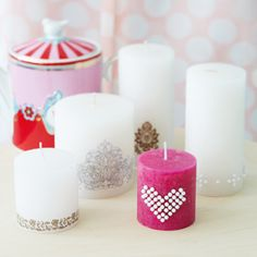 Here are a few speedy ways to dress up plain candles.