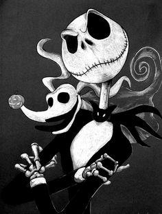 Nightmare Of Tim Burton-Jack and Zero