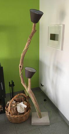 lianen lampe h he 210cm treibholz stehlampe leuchte. Black Bedroom Furniture Sets. Home Design Ideas