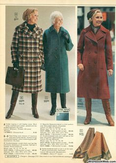 70s Fashion, Vintage Fashion, Womens Fashion, Female Fashion, Vintage Boots, Vintage Outfits, Christmas Catalogs, Fur Coat, Mini Skirts