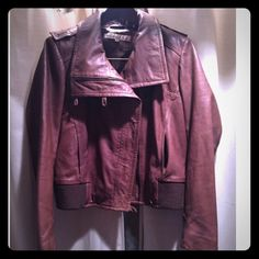 Kenneth Cole faux leather jacket Brown short faux leather jacket size PL.. Fits size 8 Kenneth Cole Jackets & Coats