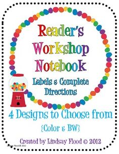 EVERYTHING you need for your kiddos to create their Reader's Workshop Notebook {with pictures and specific directions}