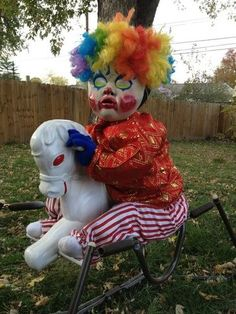 Halloween send in the clowns....even the little creepy ones                                                                                                                                                                                 More