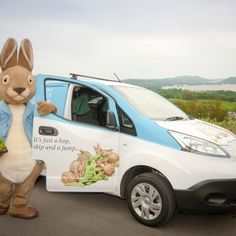 Peter Rabbit electric van at the World of Beatrix Potter