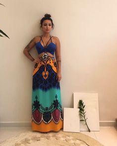 """10 mil curtidas, 141 comentários - Loja Virtual - Madame Lolla❥ (@madamelolla) no Instagram: """"Siga nosso Instagram para acompanhar as novidades: @madamelolla   Mais uma noviiiii: Vestido Gabi…"""" Boho Summer Outfits, Maxi Outfits, Hippie Outfits, Cute Outfits, Summer Dresses, Estilo Hippie Chic, Hippie Style, Boho Fashion, Girl Fashion"""