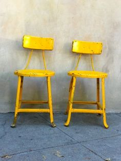 bright yellow stools