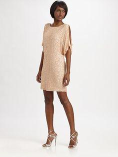 probably too casual.  Aidan Mattox - Sequined Silk Dress - Saks.com