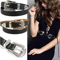 6ed94a8003 TOYOOSKY Hup Women Black Leather Western Cowgirl Waist Belt Metal Buckle  Waistband New Hot Belts for Women Luxury Designer Brand