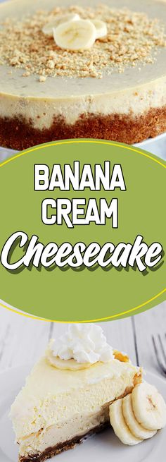 Banana Cream Cheesecake Via dessert ideas cooking light recipes sunday supper ideas No Cook Appetizers, Appetizer Dishes, Easy Appetizer Recipes, Dessert Recipes, Dishes Recipes, Just Desserts, Delicious Desserts, Yummy Food, Cupcakes