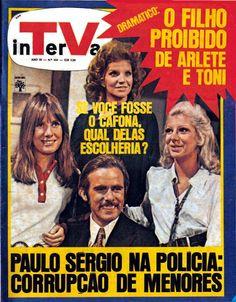 REVISTA INTERVALO - 1971 - FOTO DA CAPA COM O ELENCO DA NOVELA O CAFONA - FRANCISCO CUOCO - MARILIA PERA - TONIA CARREIRO E RENATA SORRAH