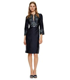 Tory Burch Embellished Silk Gazar Dress