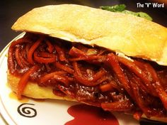"""New recipe on The """"V"""" Word: BBQ Pulled Carrots Sandwiches. Soy-free and gluten-free if you use GF rolls. Please share and enjoy!  http://thevword.net/2016/02/bbq-pulled-carrots-sandwiches.html"""