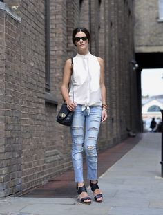Get this look: http://lb.nu/look/2326701  More looks by Hedvig ...: http://lb.nu/northern  Items in this look:  Acne Studios Blouse, Bik Bok Old Jeans, Acne Studios Bag, Balenciaga Sandals, Ralph Lauren Sunnies   #47