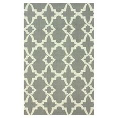 Hand-hooked wool rug with a grey lattice motif.  Product: RugConstruction Material: WoolColor: GreyFeatures: Hand-hooked Note: Please be aware that actual colors may vary from those shown on your screen. Accent rugs may also not show the entire pattern that the corresponding area rugs have.Cleaning and Care: These rugs can be spot treated with a mild detergent and water. Professional cleaning is recommended if necessary.