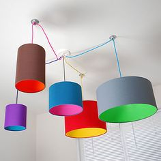 I LOVE this lampshade. It would be perfect to add some fun and colour to the family room.