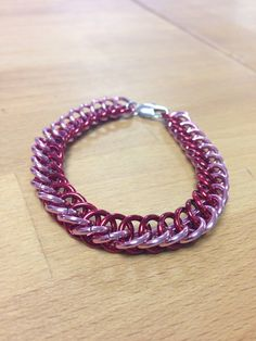 Shiny Pink and Red Solid Metal Aluminum Half Persian by MelonLove, $12.00