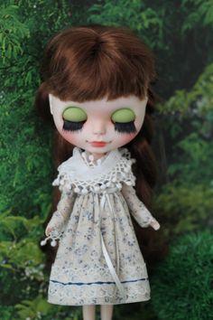 Mori style dress for Blythe / Azone pure neemo от ElenaShowRoom