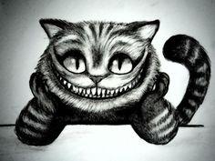 Cheshire cat tattoo idea by caro schnyder