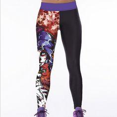 22 Colors Classic European America Style 3D Print Women Sport Leggings