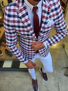 Indian Men Fashion, Big Men Fashion, Mens Fashion Suits, Men's Fashion, Plaid Suit, Suit Vest, Dress Suits For Men, Men's Suits, Mens Suits Online