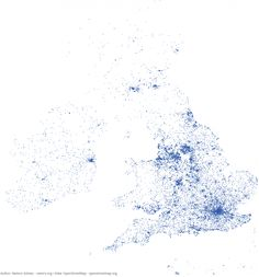 You can map Britain and Ireland's population centres, using only the location of pubs | CityMetric