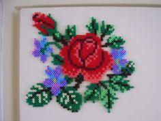 Blumen Bügelperlen Flowers  perler beads