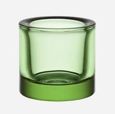 Kivi Tea Light Holder in Green or Orange by iittala