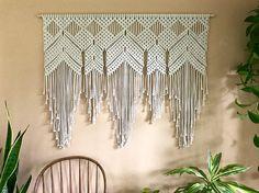 Extra Large Macrame Wall Hanging Natural White Cotton Boho- Etsy