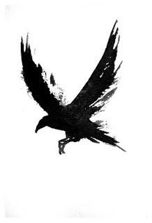 raven black outline tattoo - Google Search
