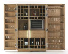 Винный шкаф из массива