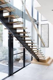 Resultado de imagen de walnut tread steel stair