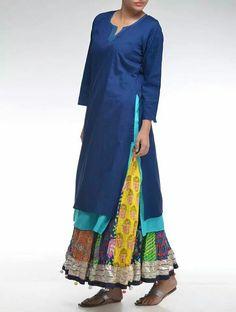 MulMul kurta and skirt... prefect summer ensemble