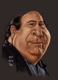 Danny Devito | 29 Celebrity Caricatures That Are Incredibly Accurate