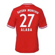 13-14 Bayern Munich #27 Alaba Home Soccer Jersey Shirt