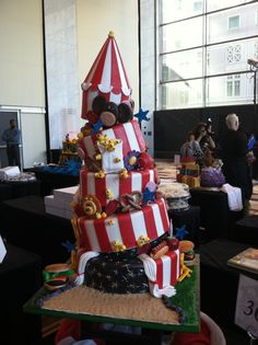"City of Hope hosts ""Let Them Eat Cake"" - with 40+ circus-themed wedding cakes. Check out ALL the cakes at wp.me/p1MNqW-jy"