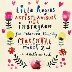 "59 Likes, 1 Comments - Lilla Rogers (@lillarogers) on Instagram: ""Today artist Marenthe @marenthe ambushes my Instagram feed & shares a sneak peek into her life as a…"""