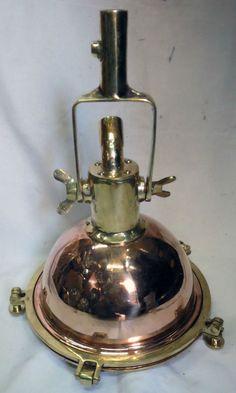 Nautical marine brass & copper  deck light 2 pcs
