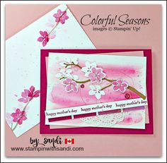 Colorful Seasons for Mother's Day by Sandi @ www.stampinwithsandi.com