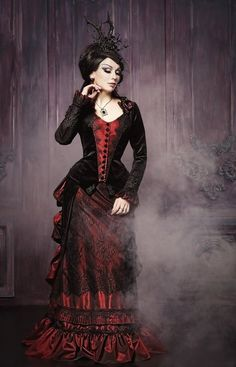 cb624730b60 Victorian walking costume bustle skirt. Gothic FashionVictorian Fashion Steampunk ...