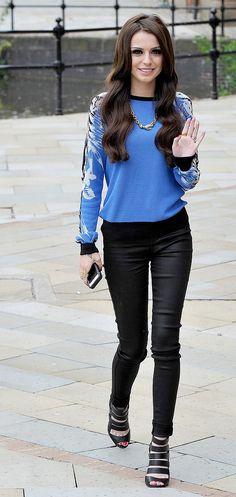 Cher Lloyd in L8001 Leather Super Skinny in Noir. #JBRAND